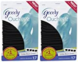 Goody Ouchless Elastics, Black, 17 Count