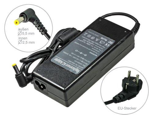 90W Notebook Netzteil AC Adapter Ladegerät für Toshiba Satellite C850D-11G C850D-11K C850D-12C C850D-12U C855-1Q2 C855-2FQ C870-1EW C870-1F6 C870D-119 E300-1003, mit Euro Stromkabel