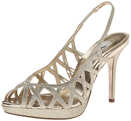 Nina Women's Fantina YG Dress Sandal, Platino, 8.5