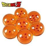 YTMR ドラゴンボール DRAGON BALL 全7点!世界中に散らばったドラゴンボールを全て7つを集めた!神龍召喚!7点セット 7.6CMと4.5CM すっげ本物らしい!水晶 ドラゴン 龍球 クリスタル玉 コスプレ小道具 箱が付き (4.5CM全7点セット) [並行輸入品]