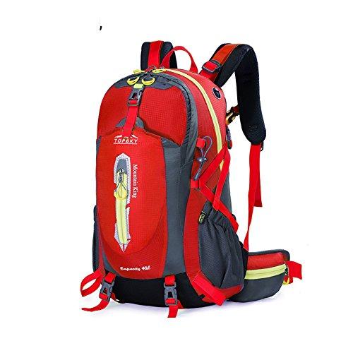 Outdoor sac à dos d'alpinisme / randonnée sac de Voyage multifonction-Gros rouge 40L