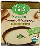 Pacific Natural Foods Organic Cream Of Mushroom Condensed Soup, 12-Ounce Boxes (Pack of 12)