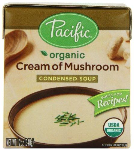 Pacific Foods Organic Cream of Mushroom Condensed Soup, 12-Ounce Carton, 12-Pack (Condensed Cream compare prices)