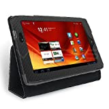 Celicious Black Textured Tri-Stand Wallet Case for Acer Iconia Tab A100 Acer Iconia Tab A100 Case Cover