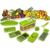 10 In 1 Fruit & Vegetable Graters, Slicer, Chipser, Dicer, Cutter Chopper Upgraded Model With Unbreakable Set Best Kitchen Genius Slicer Dicer ABS Body And Heavy Stainless Steel Blades
