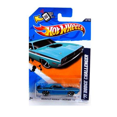 2012 Hot Wheels Muscle Mania - Mopar '71 Dodge Challenger Blue Green #82/247