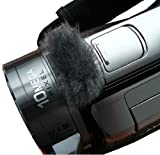 Stick-On WindCutter Fur Microphone Windscreen for Consumer Camcorder (Sony, Panasonic, Canon, JVC, & More)