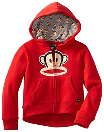 Paul Frank Little Girls' Little Classic Hoodie, Red, 4