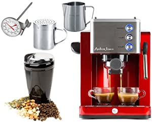 Andrew James Barista Coffee Maker Reviews : Amazon.com: Andrew James Ultimate Coffee Package Including Espresso Machine,Coffee Grinder ...