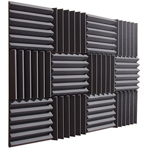 pro-studio-acoustics-12x12x2-acoustic-wedge-foam-absorption-soundproofing-tiles-charcoal-12-pack