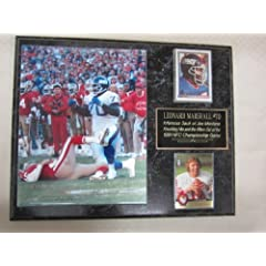 Leonard Marshall New York Giants 2 Card Collector Plaque w 8x10 photo sacking JOE... by J & C Baseball Clubhouse