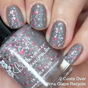 KBShimmer Elle Light Grey Glitter Nail Polish
