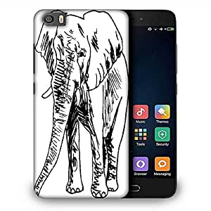 Snoogg sketch of elephant vector illustration Designer Protective Back Case Cover For Samsung Galaxy J1