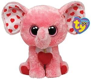 Ty Tender Beanie Boos Elefant rosa mit roten Herzen