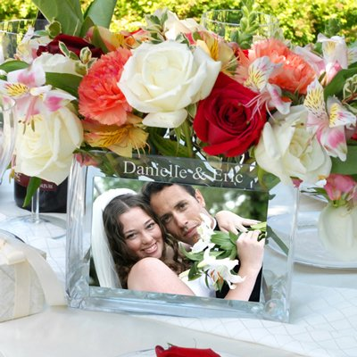 Personalized Photo Flower Vase