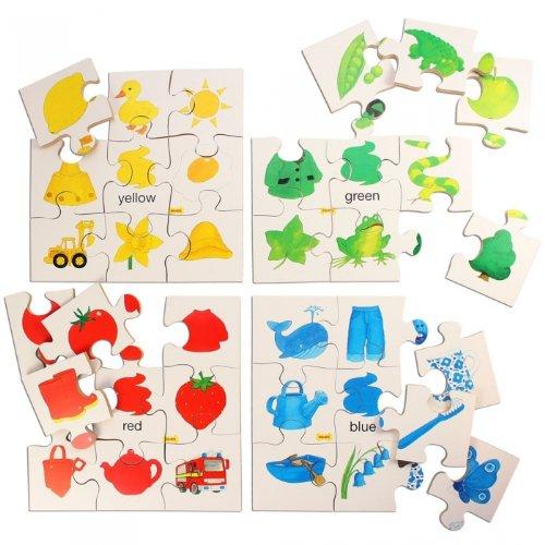 Bigjigs Toys BJ080 Colors Puzzles Set 1 (Set of 4)