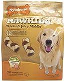 Nylabone Rawhide Filet Mignon Flavored Braid Puppy Dog Treat Bone 18 count
