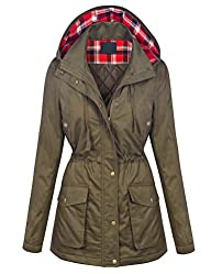 MBJ Womens Military Anorak Safari Hoodie Jacket