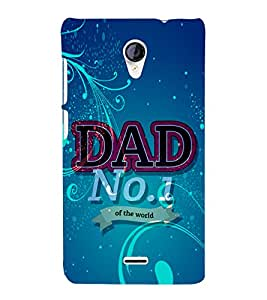 Dad No 1 in the World 3D Hard Polycarbonate Designer Back Case Cover for Micromax Canvas Unite 2 A106