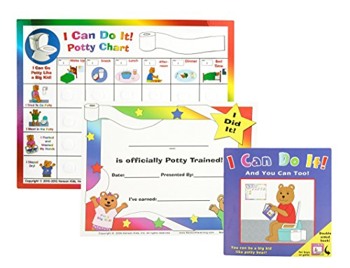 Kenson-Kids-I-Can-Do-It-Potty-Chart-Updated-Toilet-Training-System-Includes-Colorful-Magnetic-Chart-30-Positive-Reinforcement-Stars-Potty-Training-Book-Achievement-Certificate-and-Training-Tips-for-Pa