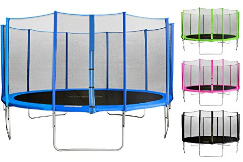 SixBros. SixJump 2,45 M Trampolino elastico da giardino blu esaminato da Intertek / GS | Rete di Sicurezza - CST245/L1603