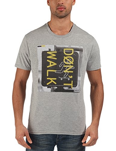 Bench - T-shirt WALK, Maglia a maniche lunghe Uomo, Grigio (Grey Marl), X-Large (Taglia Produttore: X-Large)