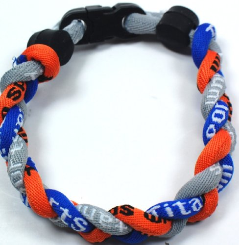 NEW! Orange Royal Blue Gray 8&quot; Torando Titanium Sport Wristband