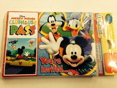 Mickey Mouse 'Playtime' Invitations and Thank You Notes w/ Envelopes (8ct ea.)