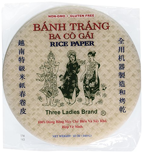 Three Ladies Spring Roll Rice Paper Wrappers (Round 22cm 3pks) (What Is Meat Sauce compare prices)