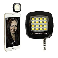 Kapa LED Selfie Flash Rechargeable Dimmable Light for Android Smartphones , Tablet , iPhones