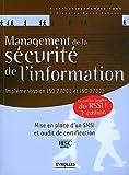 Management de la s�curit� de l'information. Impl�mentation ISO 27001