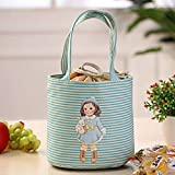 Mokingtop®Smart Thermal Insulated Bento Pouch Lunch Storage Case for Kids Adult (Blue)