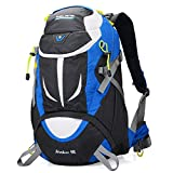 Altosy Hiking Daypack Outdoor Waterproof Travel Backpacks Blue/orange 8278 (Blue, 40lbs)