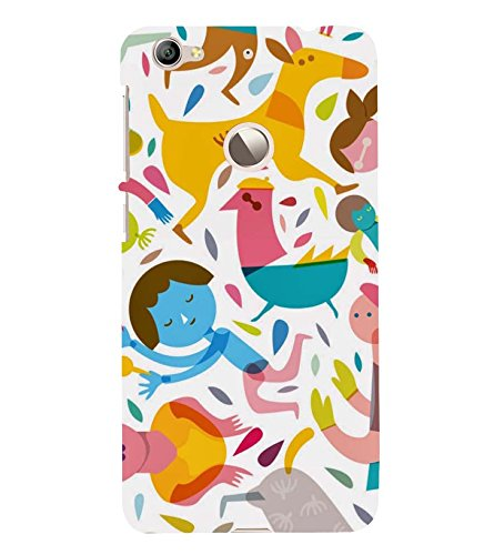 Axes Animated Animals & People Back Case Cover for Le TV Le 1s