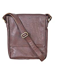 The Runner Men's Brown Designer Sling Bag
