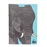 Rose Hill Elephant Portrait A6 Notebook