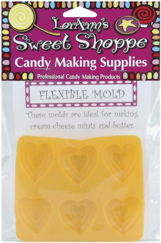 Flexible Candy Making Molds-Double Heart (Rubber Cream Cheese Mint Mold compare prices)