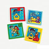 Happy Birthday Jesus Slide Puzzles Nativity Party Favors (12 Puzzles)