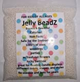 1 Lb -Almost 30,000 Jelly BeadZ® Water Bead Gel - WHITE- 16 oz Heat Sealed Bag- Water Pearls Gel Beads- Wedding & Event Centerpieces