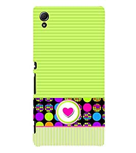 Love Pattern Dotted 3D Hard Polycarbonate Designer Back Case Cover for Sony Xperia Z4 :: Sony Xperia Z4 E6553