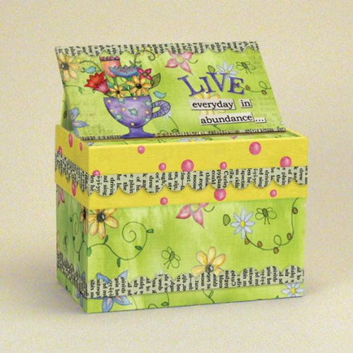 Lang Artisan Abundance Recipe Card Box With Recipe Card
