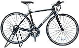 TRIACE(トライエース) S120 700x25C 軽量クロスバイク 約9.6kg〜 シマノ24速 フラットバーロード ブラック【エントリーモデル】 (500mm(お客様組み立て+防犯登録))