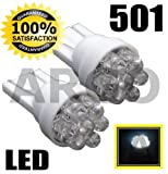 501 6 LED XENON WHITE SIDELIGHT INTERIOR BULBS W5W 194 T10 HONDA INSIGHT