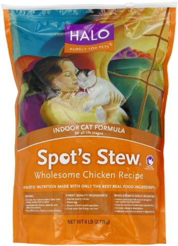 Image of Halo Spot's Stew Natural Dry Cat Food, Indoor Cat, Wholesome Chicken Recipe, 6-Pound Bag