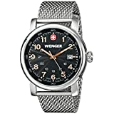 Wenger Men's 1041.106 Stainless Steel Watch with Mesh Bracelet