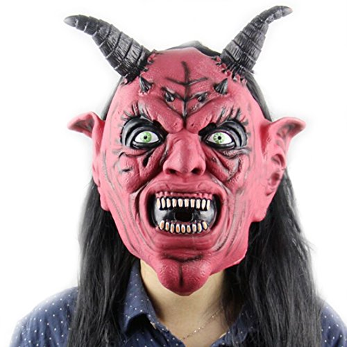 Samgo Halloween Beelzebub Face Screaming Costume Masks
