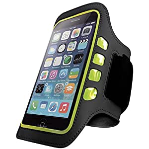 Best Iphone 6 Armband for Running and Workout - LED Lights, Waterproof, Touch Sensitive - Good for Small and Big Arms (Xs Large), Iphone 6s 4 4s 5 5c 5s - Black