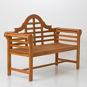 DTY Outdoor Living Broadmoor Garden Bench Eucalyptus Patio Furniture Collection