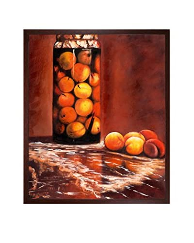 "Claude Monet's ""Jar of Peaches"" Oil Painting on Canvas"