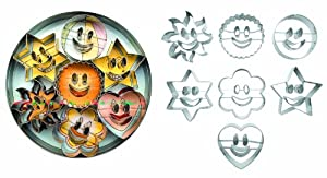 Ibili Accesorios Pack of 7 Cookie Cutters with Smiley Motifs Diameter 5 - 6 cm